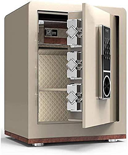 REWD - Cerradura mecánica Safe Haushalts-Safe en el armario, caja de contraseña, cerradura fija con alarma (tamaño: 45 x 32 x 38)