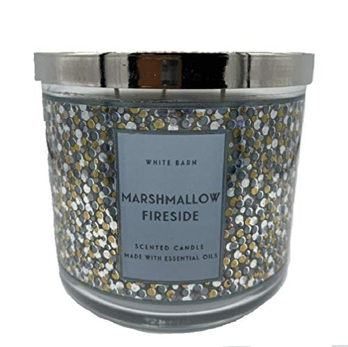 White Barn Bath & Body Works 3-Wick Scented Candle in Marshmallow Fireside (2019)
