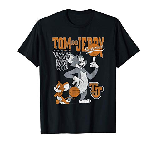 Tom and Jerry Spinning Basketball Camiseta