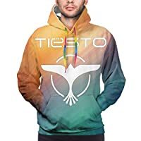 Putianshi Tiesto Men'S Casual Pullover Hooded Long Sleeve Lightweight Sweatshirt With Pocket Training Black 冬服