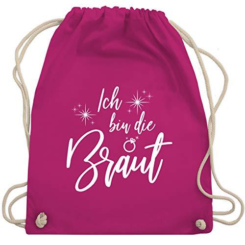 Shirtracer JGA Junggesellenabschied Frauen - Ich bin die Braut Sparkles Weiß - Unisize - Fuchsia - WM110 - WM110 - Turnbeutel und Stoffbeutel aus Baumwolle