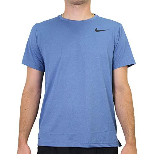 NILCO|#Nike Hpr Dry, Magliette da Uomo, Mystic Navy/Stone Blue/Htr/Bla, XL