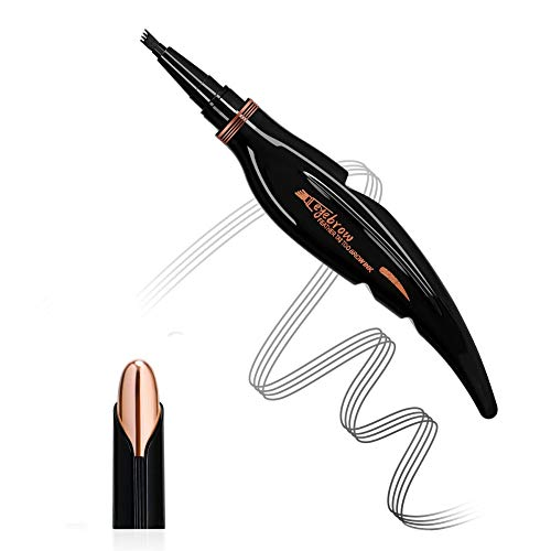 weixinbuy Eyebrow Microblading Pen - Microblading Waterproof Liquid Eyebrow Pencil With Tilted Four-Pronged Pen Head Design - Creates Natural Looking Brows Effortlessly And Stay-