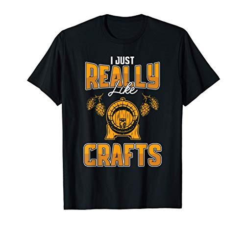 Bier Liebe Mag Fassbier Craftbier Alkohol Trinker Geschenk T-Shirt