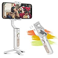 hohem Smartphone Stabilizer 3 Assi Stabilizzatore Gimbal Portatile Peso 256g Inception Video Clip per Vlog/Youtuber, Gimbal Smartphone Caricamento 280g per iPhone 12/11/Xs Max/XR/Samsung Galaxy etc