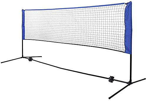 Filet de Badminton Portable à Hauteur réglable, Volley-Ball pour Enfants, Tennis, Pickleball, avec Sac de Transport, pour Terrain extérieur/intérieur, arrière-Cour, Plage-3 m