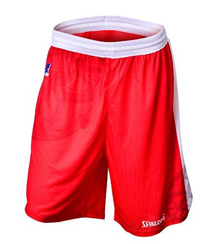 JL Bourg 2018-2019 - Pantaloncini da Basket, Unisex, Unisex, SHORTEXTJLB, Rosso, X-Large