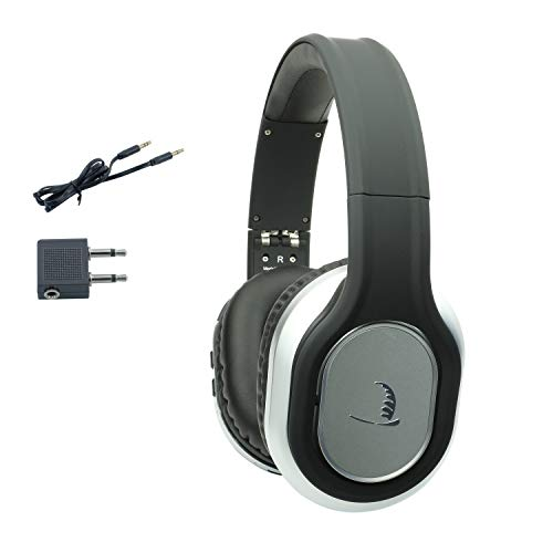 Bluetooth Wireless Active Noise Canceling Headphones Reduce Environment Noise in Airplane & Noisy Environment | Quiet Comfort Headphones Foldable with Airplane Adapter & Case for Traveler