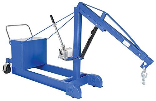 Vestil CBFC-1000 Steel Counter Balanced Floor Crane, 1000 lbs Capacity, 145-1/4