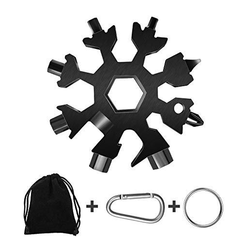 18-in-1 Snow Multi-Tool, Easy N Genius Stainless Steel Snowflake Screwdriver Multi-Tool Great Christmas Gift……