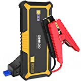 GOOLOO GP2000 2000 Amp Car Battery Jump Starter for up to 9L Gas and 7L Diesel Engines, 12V Portable Car Battery Booster Pack, Lithium Jump Box with LED Light, USB Quick Charge, Type-C, Yellow