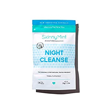 SkinnyMint Night Cleanse Teatox All-Natural and Effective Detox Tea Help Reduce Bloating and Restore Digestive Balance Support Relaxation.