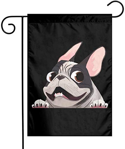 QISHUO French Bulldog Garden Flag 12'x 18', Double Sided Welcome House Flag Decorative Yard Flag Banners