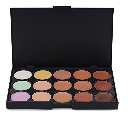 JasCherry Palette correcteur crème de camouflage 15 couleurs - cosmétique Camouflage Crème de Professionnelle Set Kit #1