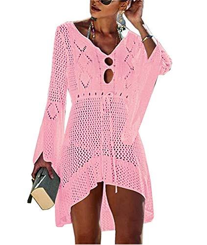 Cyiozlir Vestido de playa para mujer, de verano, de punto, para la playa, poncho...