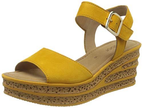 Gabor Shoes Damen Casual Riemchensandalen, Gelb (Mango 13), 39 EU