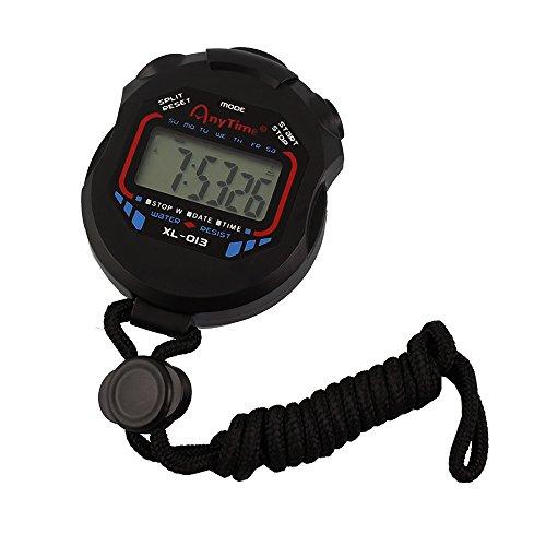 SPORT TIME ストップウォッチ XL-013Aブラック 1/100秒計測 10時間計 電池寿命約3年