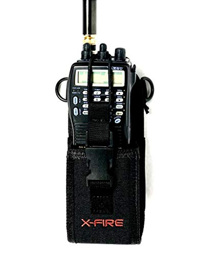 X-FIRE Radio Duty Belt Washable Holder Holster for Portable Tactical Radios APX Two Way Firefighter EMS EMT Fire LE Police Search Rescue Ham CB Walkie Talkie GPS Scanner
