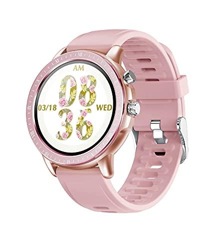 YQCH Reloj inteligente para mujer 1.3 con pantalla redonda completa de ritmo cardíaco, monitor de actividad física, reloj de bricolaje, reloj inteligente, banda inteligente para hombres (color : C)
