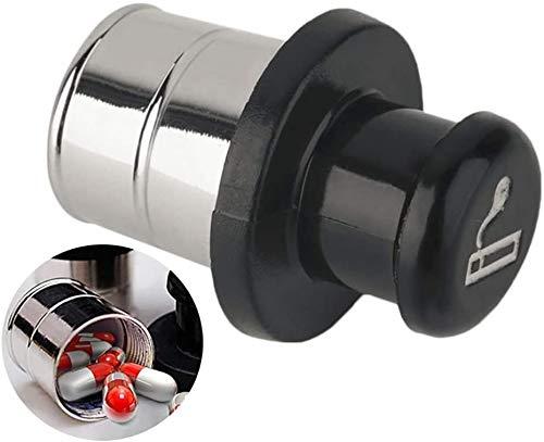 SUMEDTEC Forma de Encendedor del Coche 1PC píldora Caja de Almacenamiento Metal Seguro Secreto Stash desvío envase de la Caja