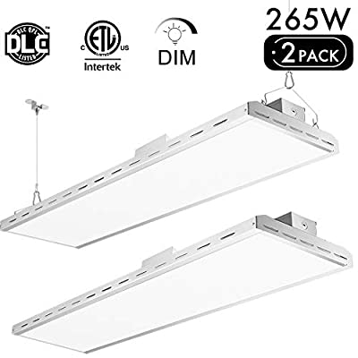 Lightdot 4FT 265W LED high Bay Shop Light for Warehouse Industry Workshop barn 1-10v Dim 5000K 1000W HID Replacement