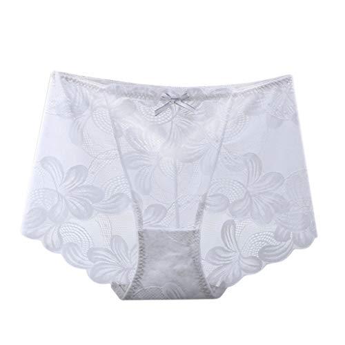 COMIOR Shorts Damen Bikini Hot Pants Sexy Spitze Mesh Slips Schritt Offen Solide Unterhosen Frauen Mädchen Höschen Große Größe Einfarbig Skinny Panties Atmungsaktive Pantie Hipster Kurze Hosen