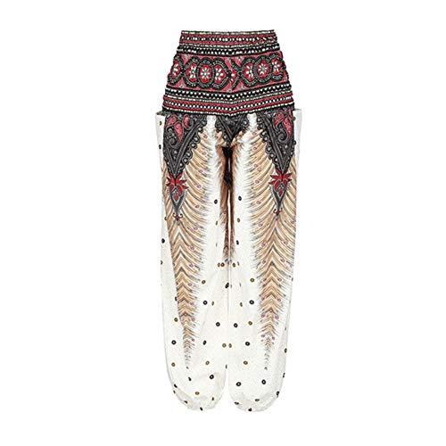 Shuangklei Pantalones Sueltos Bloom Pantalones De Verano De Cintura Alta Casual Comfy...