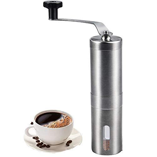 FTFDTMY Manuelle Kaffeemühle, Handkaffeemühle Mit Konisches Keramikmahlwerk Espressomühle Präzise Mahlgrad-Settings Tragbare Kaffee Mühle