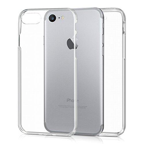 kwmobile Cover Compatibile con Apple iPhone 7/8 / SE (2020) - Custodia in Silicone TPU Fronte Retro - Front Back Case Protezione Cristallina