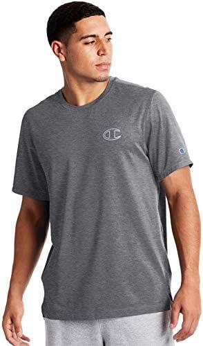 Camiseta Deportiva Champion Gris Manga Corta para Hombre