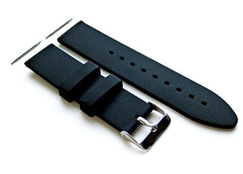 24mm - 4 Stück Gummi Ersatzband Armband Set für Luxus, Sport und Beiläufige Armbanduhren (B-SMFLT)