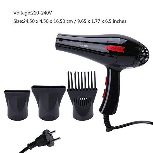 Secador de pelo 3000 W eléctrico de bajo ruido potente triple difusor con peine para el cabello