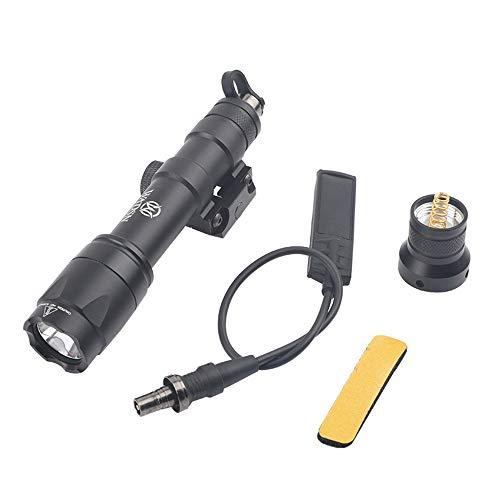 WADSN Scout Light M600C Linterna táctica, antorcha táctica con riel Picatinny para acampar, senderismo (Black)