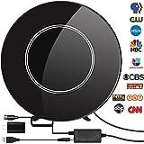 HDTV Antenna,Indoor Digital TV Antenna Amplified 80-150 Miles Range Support 4K VHF UHF
