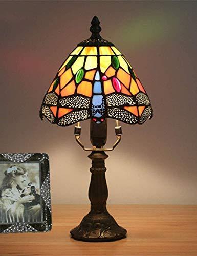 WYL Lámpara de Mesa de Pintura de Vidrio Retro Creativo Europeo lámpara de Noche lámpara de Cama Sala de Comedor Sala de Estar Barra de decoración lámpara de Mesa