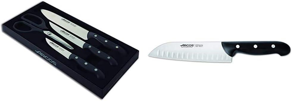 Juego de cuchillos de cocina Arcos Maitre 152600 de acero inoxidable Nitrum y ma