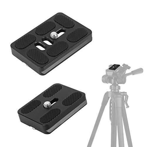 "Huayue 2 Stück Kamera Schnellwechselplatte aus massivem Aluminium Kameraplatte 50mm & 60mm QR Platte Universal Schnellwechselplatte für 1/4"" Kameraschraube Kompatibel mit ARCA-Swiss Kirk Standard"