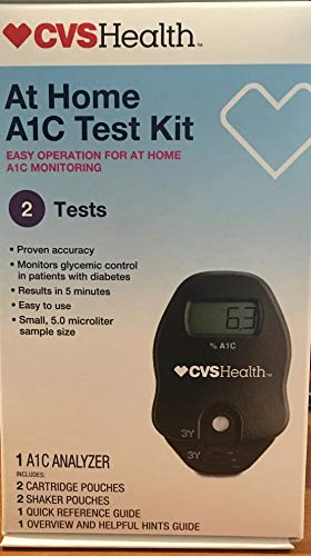 CVS A1C At Home Test Kit, Home Use Monitoring of Glycemic Control, Easy Operation for at home A1C Monitoring