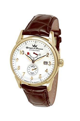 Yonger & Bresson - Reloj para Hombre, Correa de Cuero