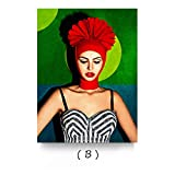 HGlSG (No Frame) 40x60cmColorful Girl Canvas Art Painting Day of The Dead Face Wall Art Picture Movie Poster Artwork for Living Room Decoración Moderna