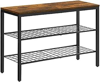Vasagle 3-Tier Shoe Rack with Grid Shelves