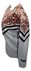 Sequins Bling Campus Crew Color with Shine Small NWT