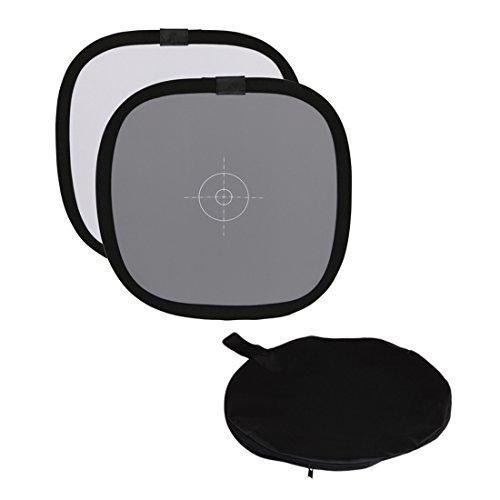 Aosnow 30 cm グレー/ホワイト バランス 18%グレーカードリフレクタ 折りたたみ式 ライティングレフ 商品/小物/人物撮影用 キャリングバッグ付き (30cm)