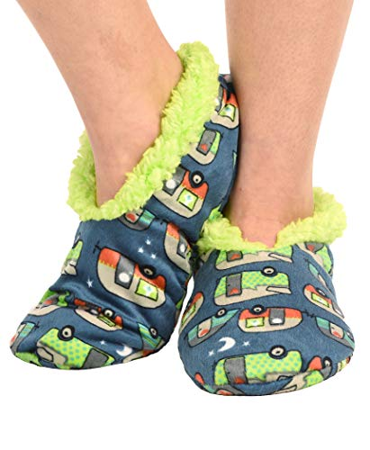 Product Image 4: Lazy One Fuzzy Feet Slippers for Women, Cute Fleece-Lined House Slippers, Night Out, Camper, Non-Skid
