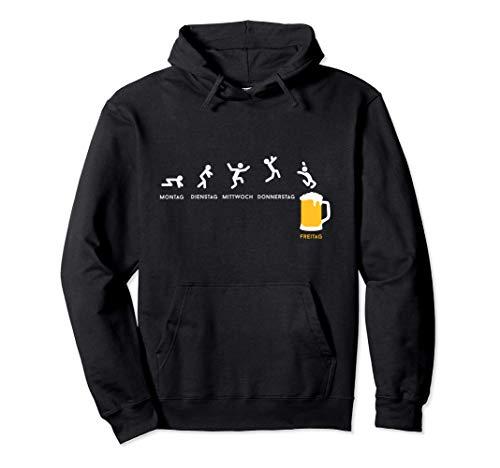 Endlich Freitag - Bier Wochenende Biertrinker Geschenk Pullover Hoodie