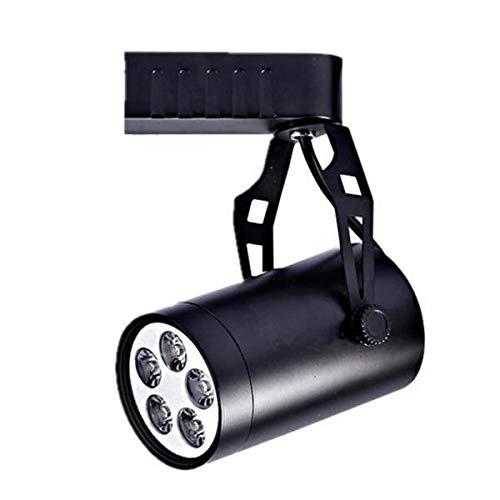 B Blesiya - Lámpara de techo (5 W, luz blanca cálida), color negro
