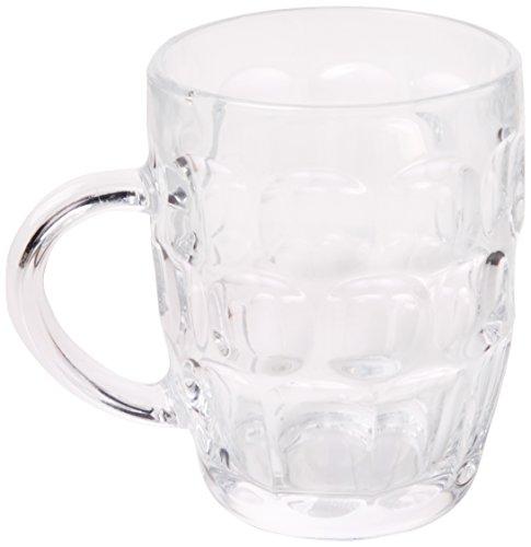 bar @ drinkstuff Jarras de vidrio tradicionales Pinturas CE - Juego de 4 | También conocido como Jarra de cerveza con hoyuelos, Britannia Pint Mug, Beer Stein, Jarra de cerveza , Britannia Pint Mug, B