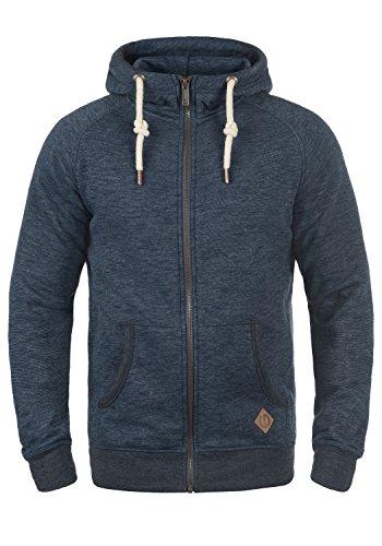 !Solid Vitu Herren Sweatjacke Kapuzenjacke Hoodie mit Kapuze und Reißverschluss, Größe:XL, Farbe:Insignia Blue Melange (8991)
