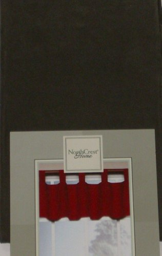 NorthCrest Home Tab Top Brown Window Valance Santa Fe Curtain Topper