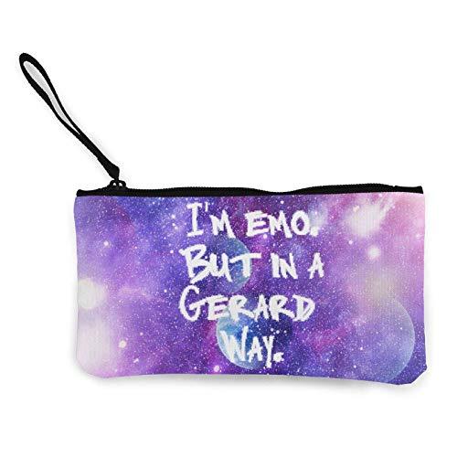 Lawenp I 'm EMO But in A Gerard Way, portátil para Mujer, Monedero de Lona, Bolsas de Almacenamiento, Billetera pequeña, Cremalleras, cosméticos de Viaje